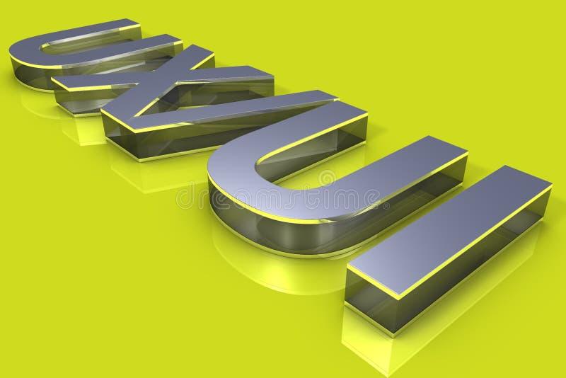 Typographie du concept 3D d'UX/UI photo stock