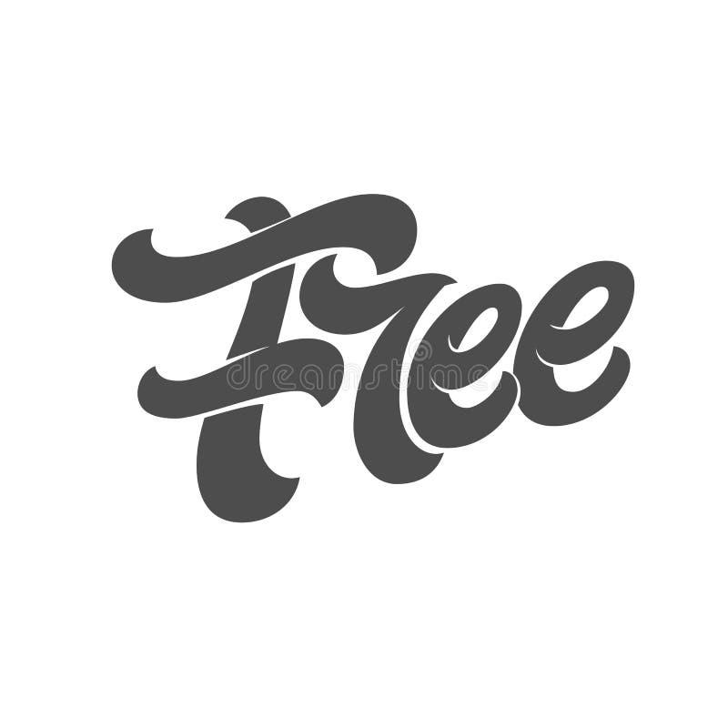Typographie GRATUITE sur le fond d'isolement par blanc Calibre pour des logos, des signes et des autocollants de conception Illus illustration de vecteur