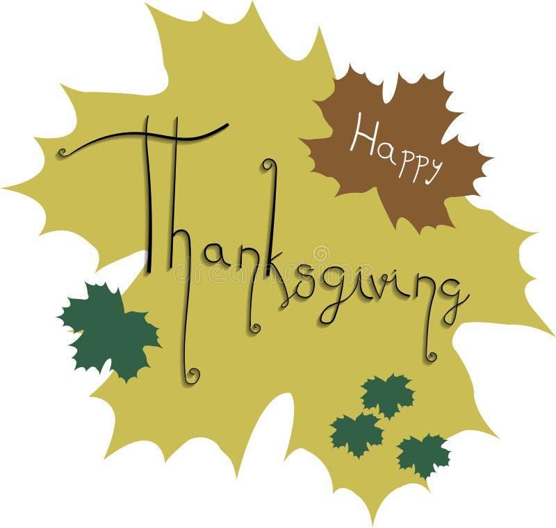 Typographie heureuse de carte de voeux de thanksgiving images libres de droits