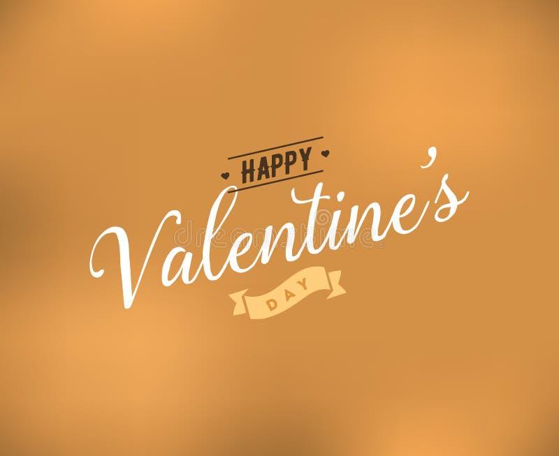 Typographie heureuse de jour de valentines Conception de vecteur illustration de vecteur