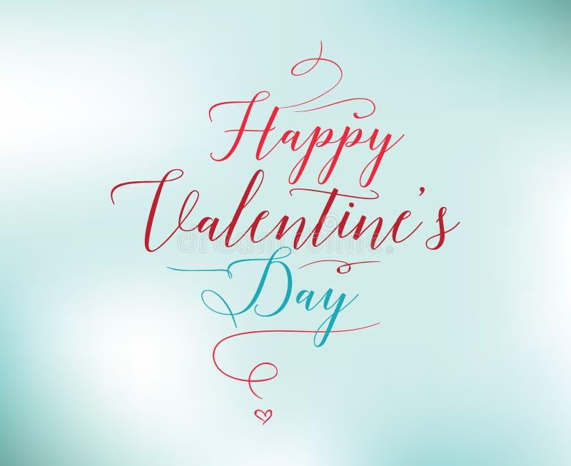 Typographie heureuse de jour de valentines Conception de vecteur illustration stock