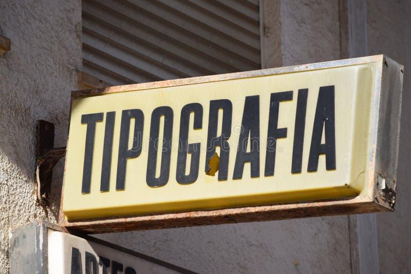 Typographie - la publicité lumineuse photographie stock libre de droits