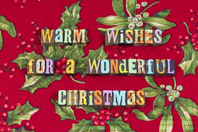 Typographie merveilleuse de paix de joie de Noël de souhait photos libres de droits