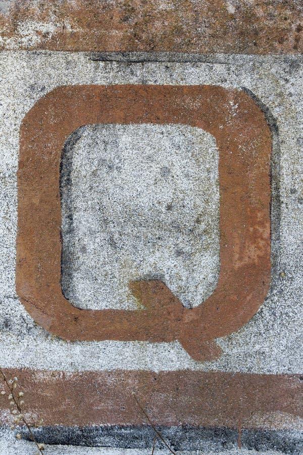 Typographie peinte sur le mur d'abandone photo stock