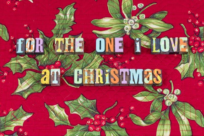 Typographie spéciale de vie de famille de Noël d'amour image stock