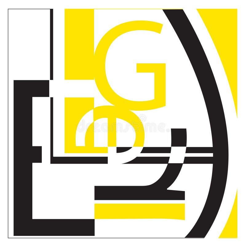 Typographie sur le blanc illustration libre de droits