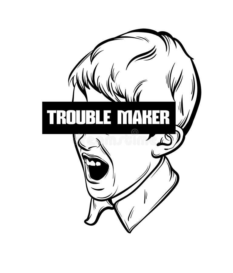 ` Typographique de fabricant de problème de ` de fond de citation illustration de vecteur
