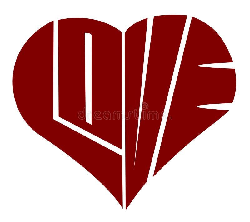 Typography: Amor ilustração stock