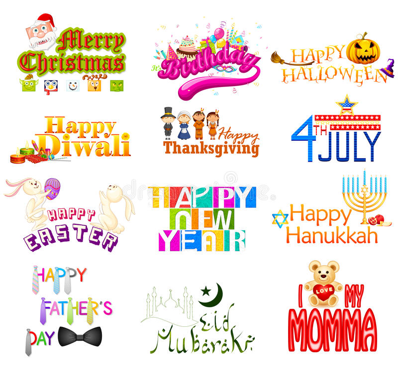 Download Typography Design For Holidays Stock Vector - Image: 34831835
