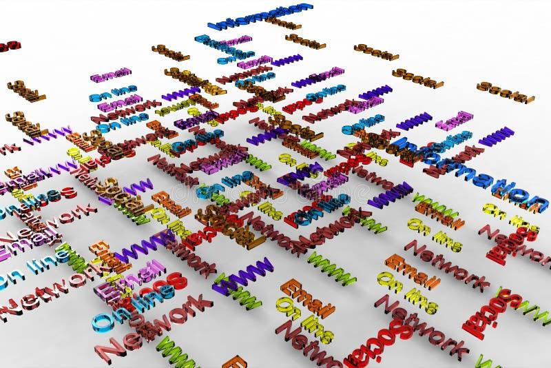 Typography do mercado ilustração do vetor