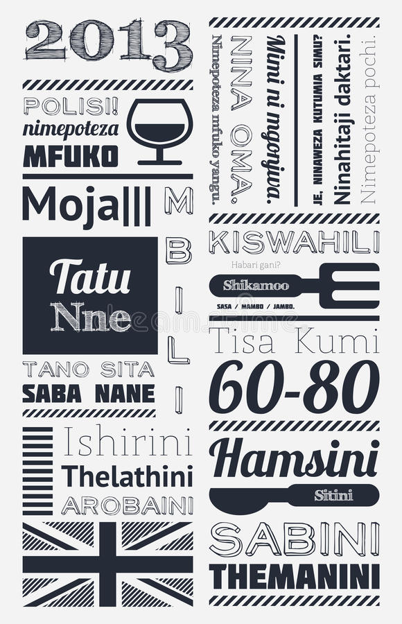 Download Typography With Elements Of Infographics Stock Photography - Image: 27359802
