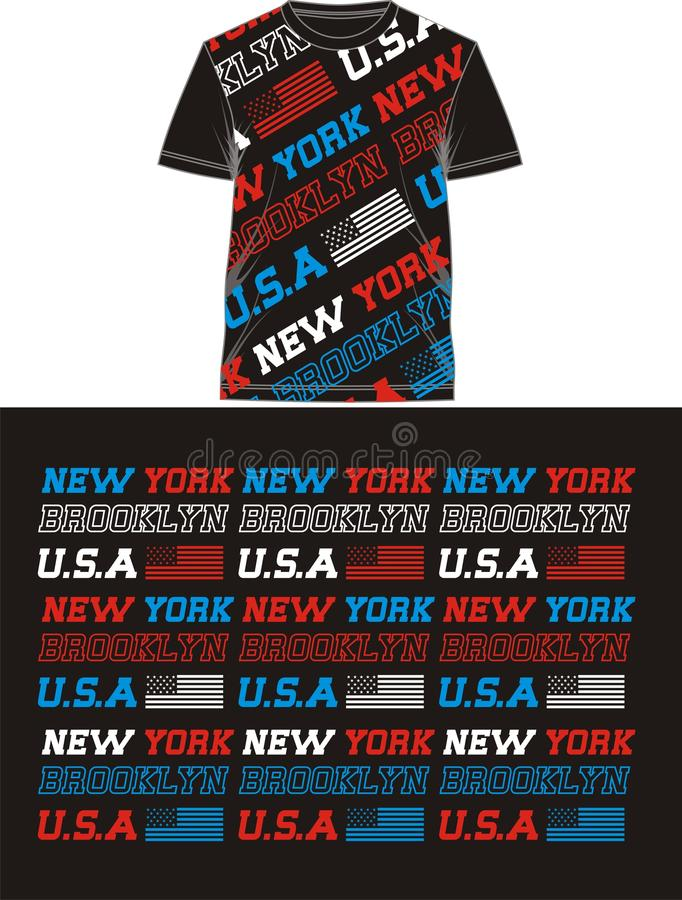 Retro USA In T Shirt, vectors stock illustration