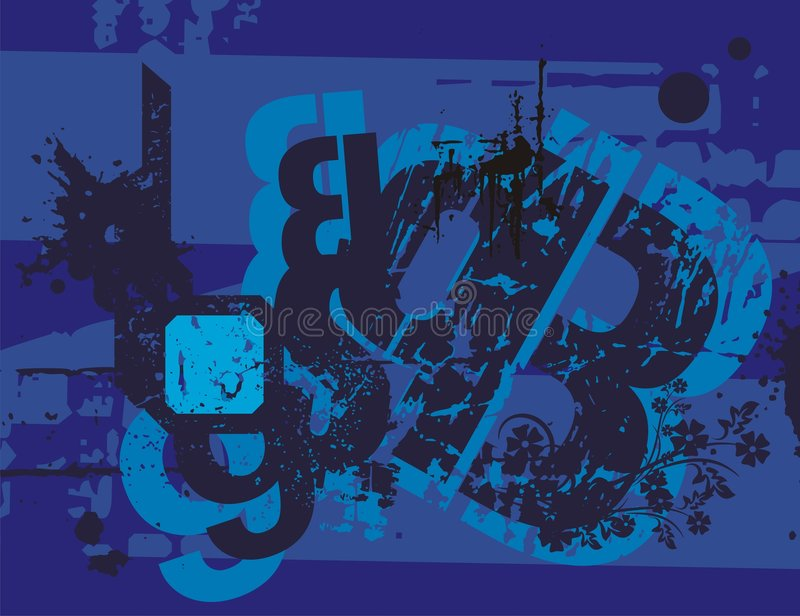 Typography Grunge Background vector illustration