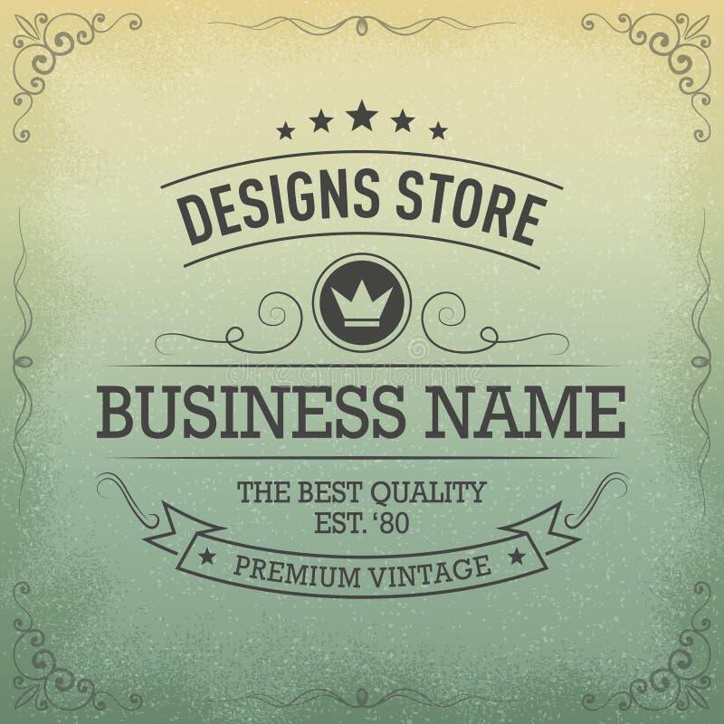 Typography logo design in retro style. Premium vintage label / badge, .eps 10 vector stock illustration vector illustration
