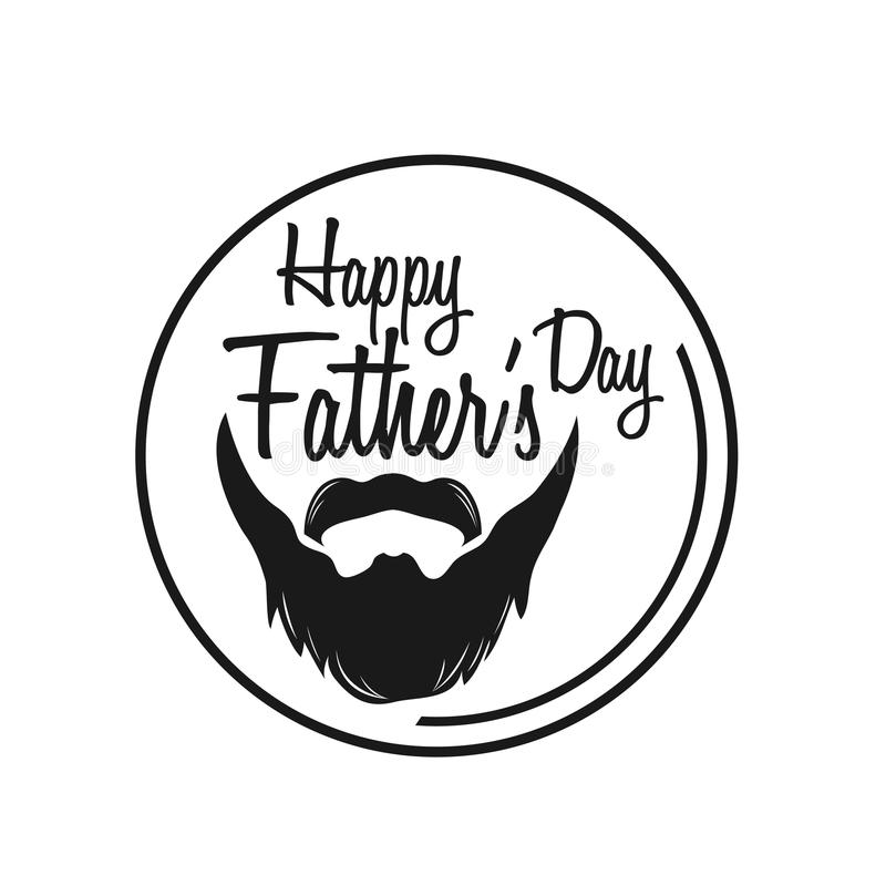 Typography poster. `Happy Fathers Day` lettering typography on textured background for postcard/card/invitation. Greeting card for Fathers Day. Father`s Day stock illustration