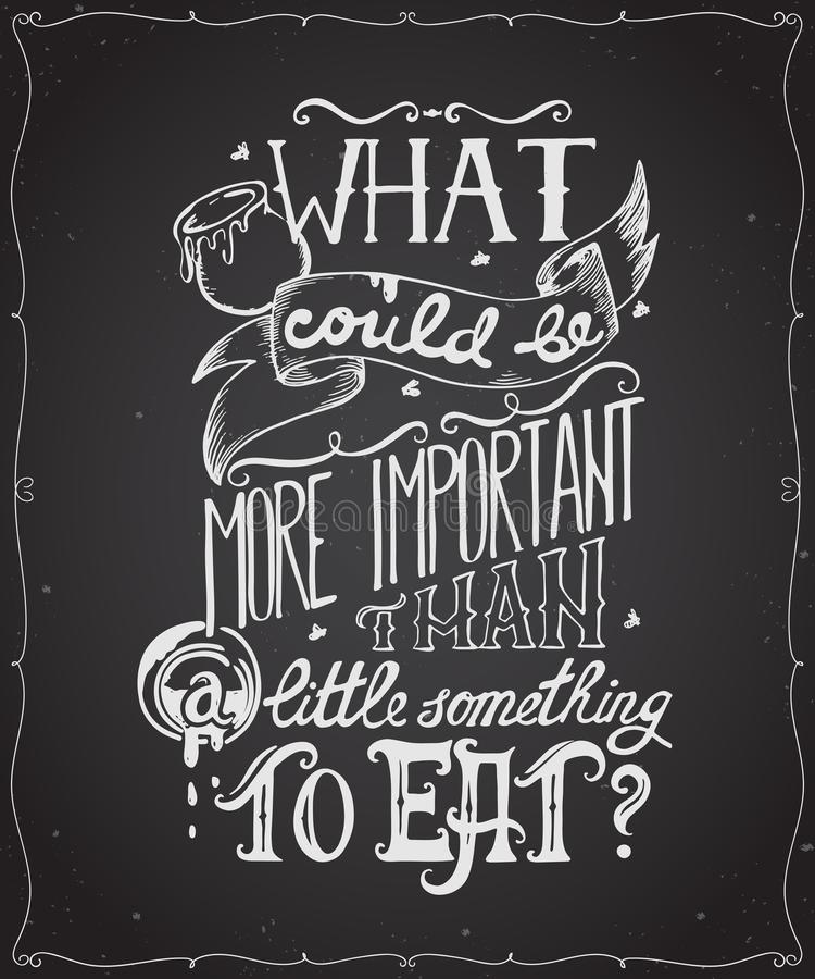 Typography Poster Quote With Hand Drawn Lettering And ...
