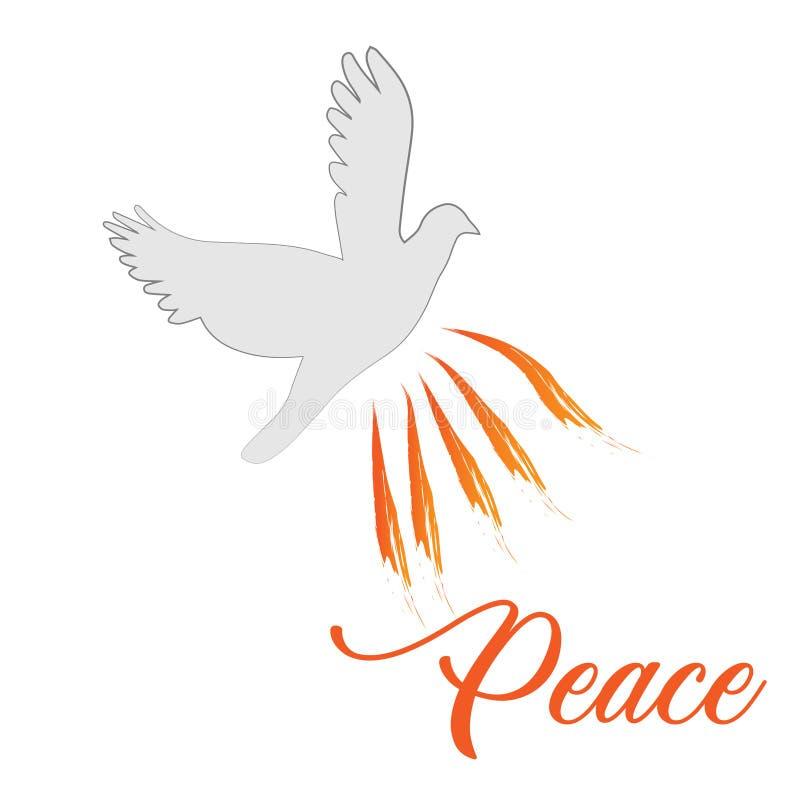 Peace, Pentecost Sunday, Holy Spirit royalty free stock image