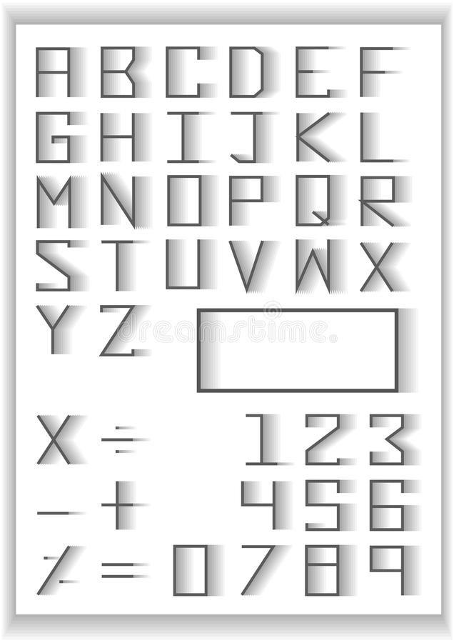 Typography Set Blend Fade Design Typography Number And Math