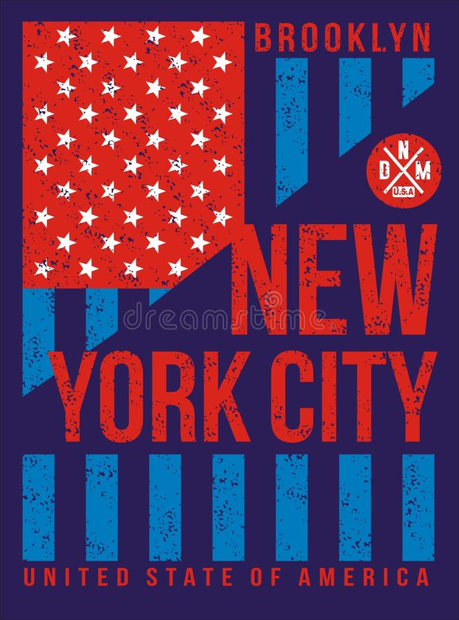 Download new york city retro vintage typography poster t shirt printing design vector
