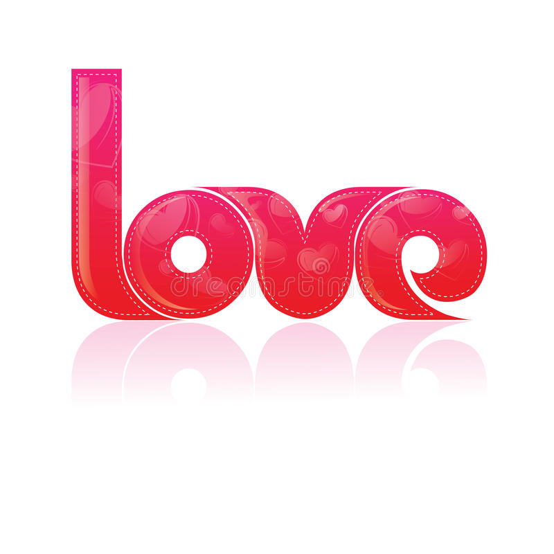 Download Typography/T-Shirt Design/ The Word Love With Patt Stock Illustration - Image: 10623151