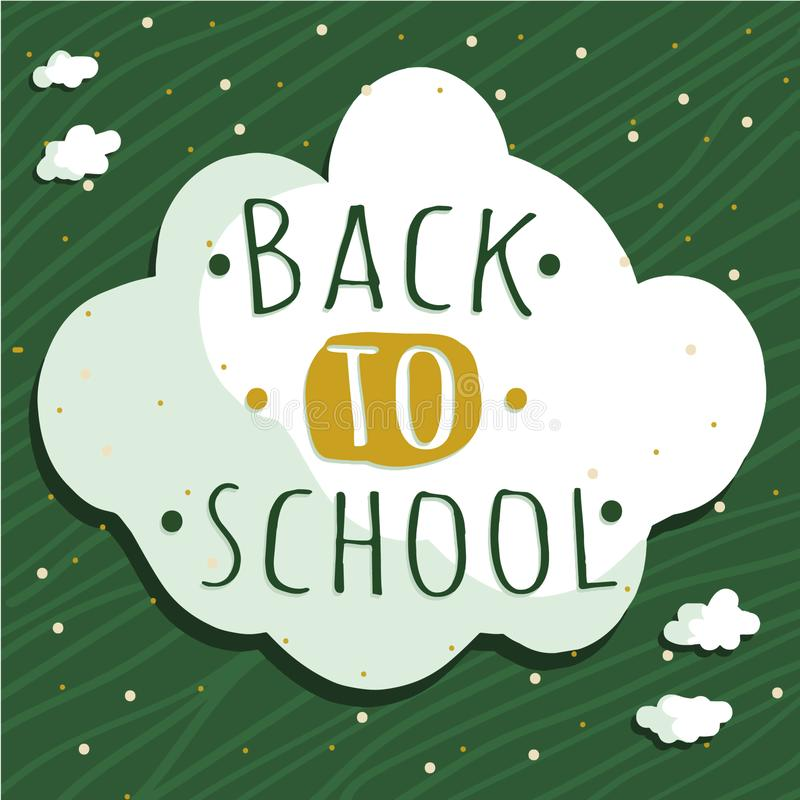 Typography vector with back to school words stock images
