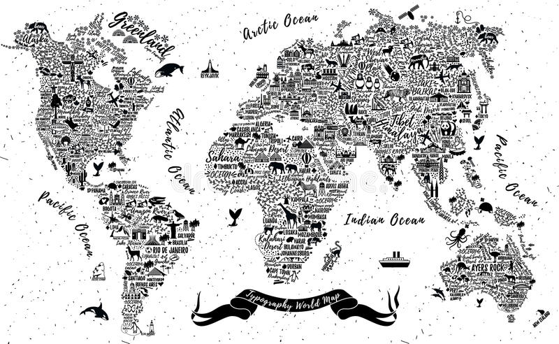 Typography world map stock vector illustration of europe 82878363 download typography world map stock vector illustration of europe 82878363 gumiabroncs Images