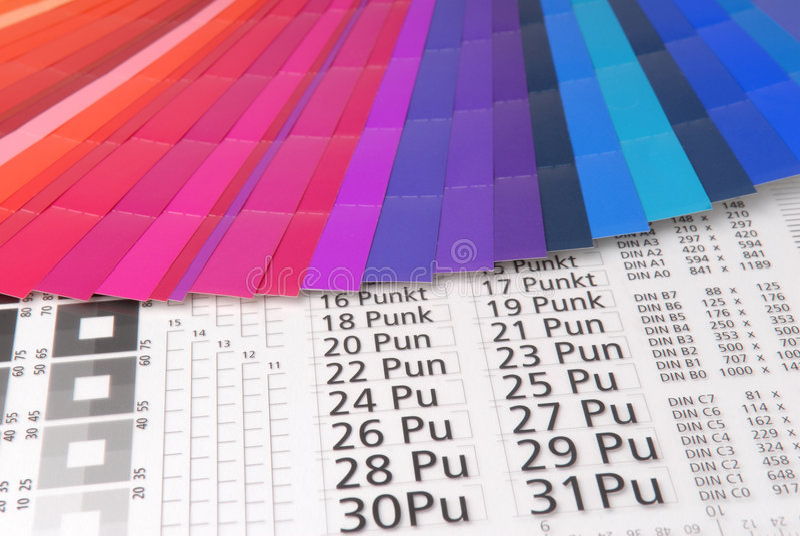 Typometer imagenes de archivo