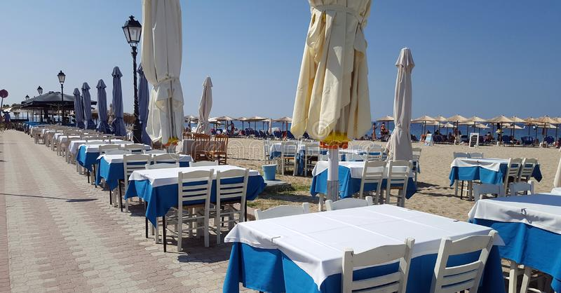 Typowa grecka tawerna - kawiarnia fotografia stock