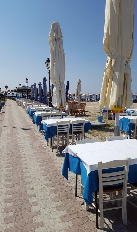 Typowa grecka tawerna - kawiarnia obraz royalty free