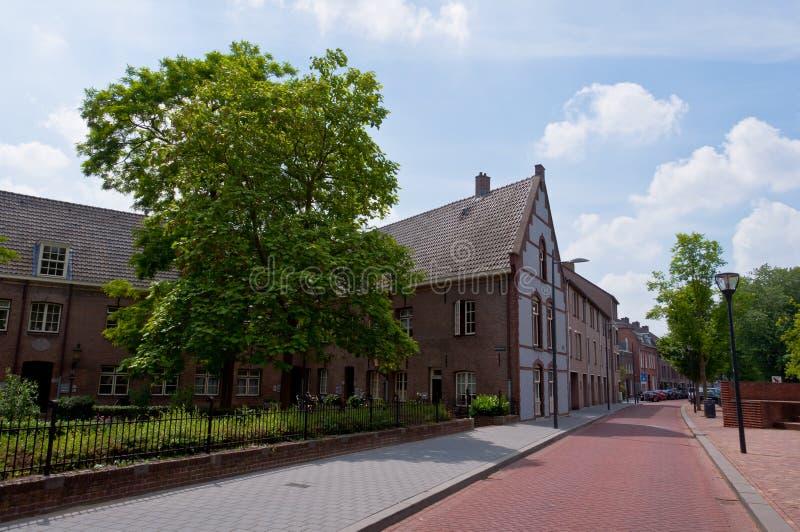 Typowa Holenderska sąsiedztwo ulica fotografia stock