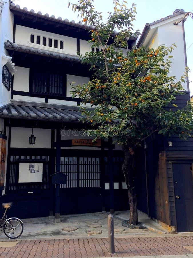 Typowa Japońska architektura w Motomachi terenie w Kobe obraz stock