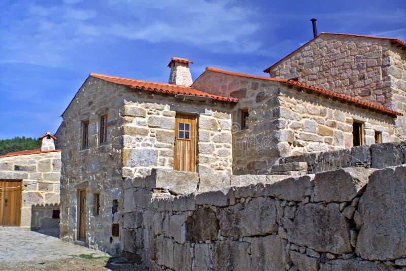 typowa kamienna wioska zdjęcia royalty free