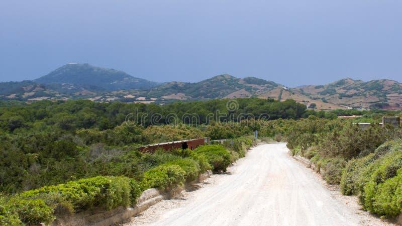 Typowa krajobrazowa północ Menorca zdjęcia royalty free