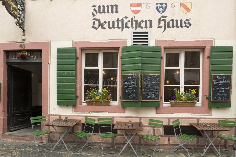 Typowa niemiecka restauracja zdjęcia stock
