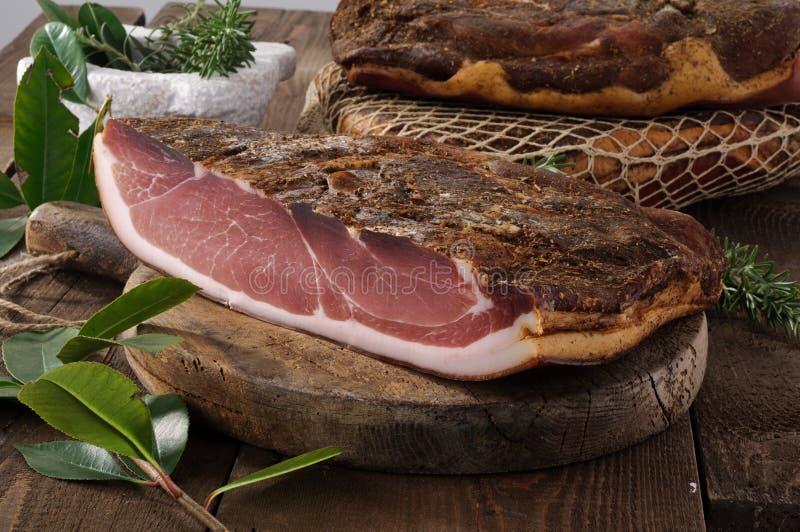 typowa salami włoska drobina obrazy stock