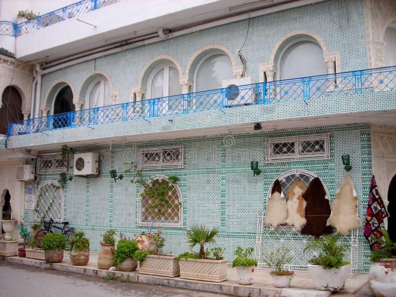 Typowa, tradycyjna architektura Hammamet, Tunezja zdjęcie stock