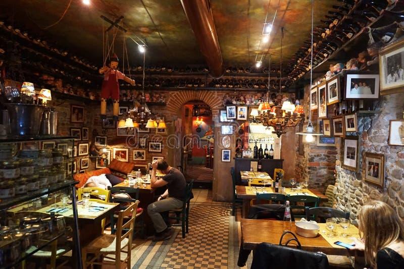 Typowa włoska restauracja, Florencja fotografia royalty free