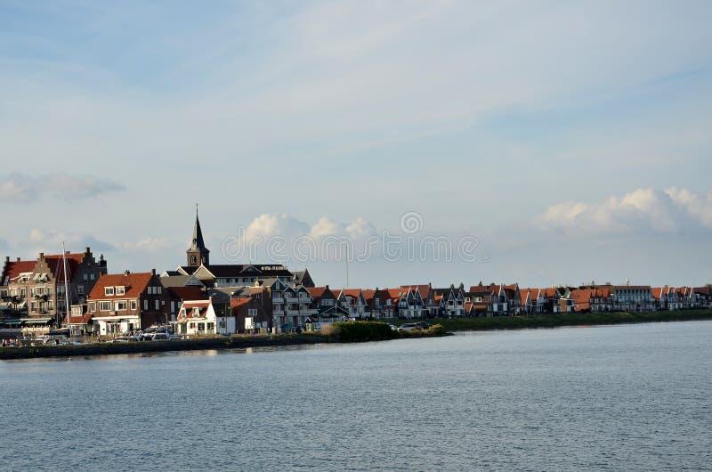Typowa wioska w holandiach fotografia royalty free
