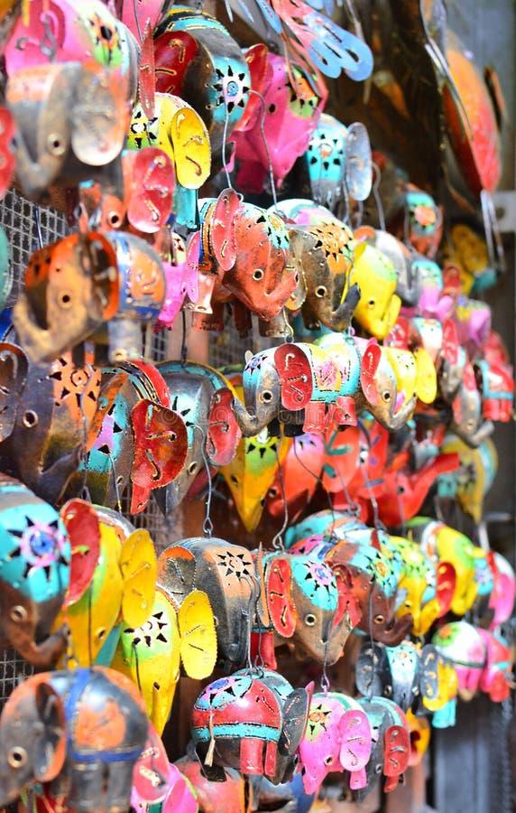 Typowe pamiątki i rękodzieła Bali przy sławnym Ubud Wprowadzać na rynek fotografia stock