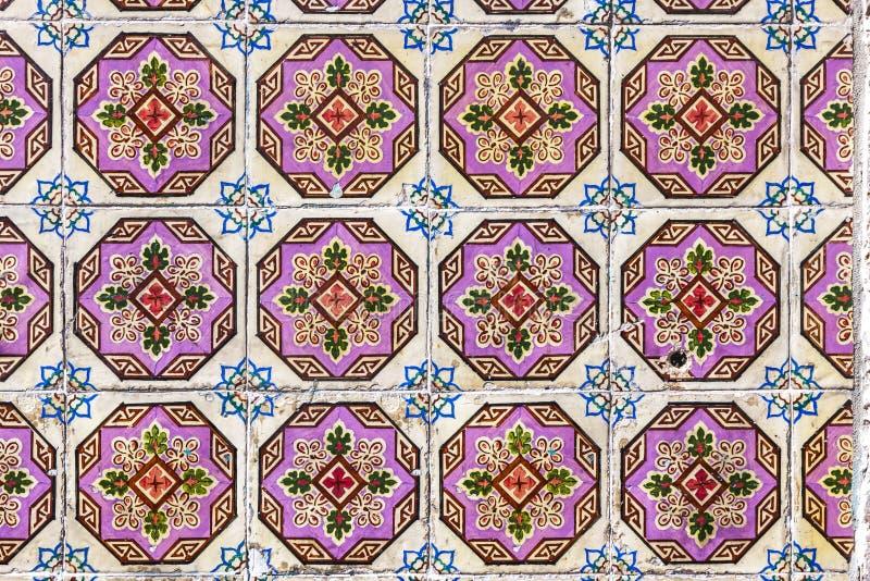 Typowe Portugalskie stare ceramiczne ścian płytki & x28; Azulejos& x29; w Lisbon, zdjęcia stock