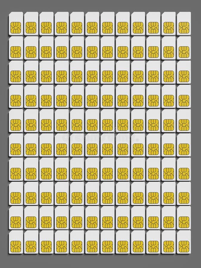 typowe sim karty ilustracja wektor