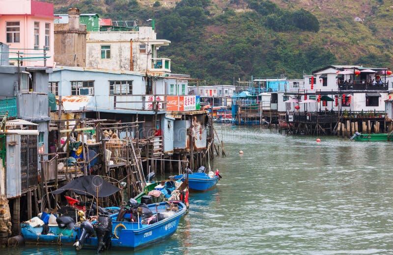Typowi stilt domy w Tai O, Lantau wyspa, Hong Kong zdjęcia royalty free