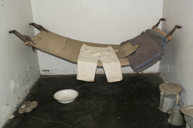 Typowi zaopatrzenia i przebywanie w areszcie komórka, Adelaide Gaol, Adelaide, Sou zdjęcia royalty free