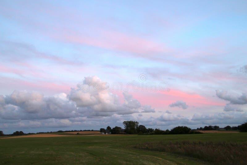 Typowo Duński krajobraz obraz royalty free