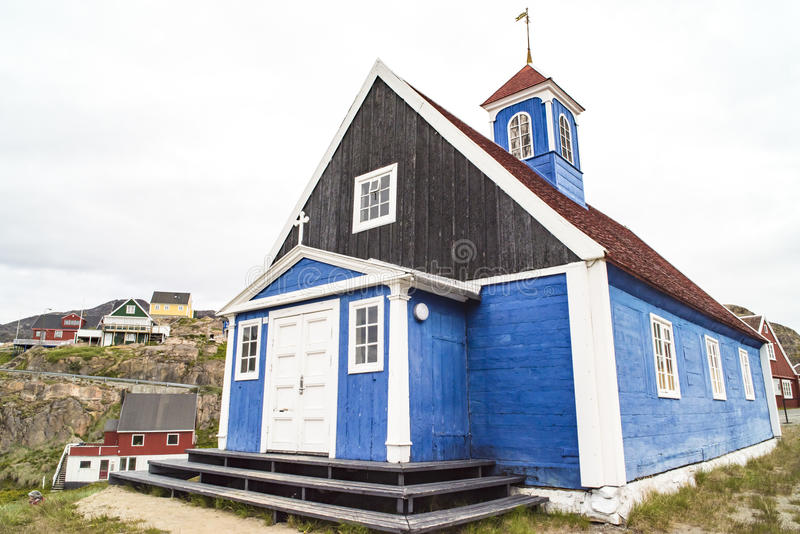 Typowy antyczny Grenlandzki kościół obraz royalty free
