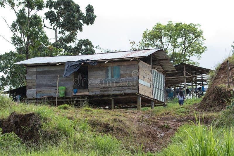 Typowy budynek mieszkalny rdzenni narody zdjęcie royalty free