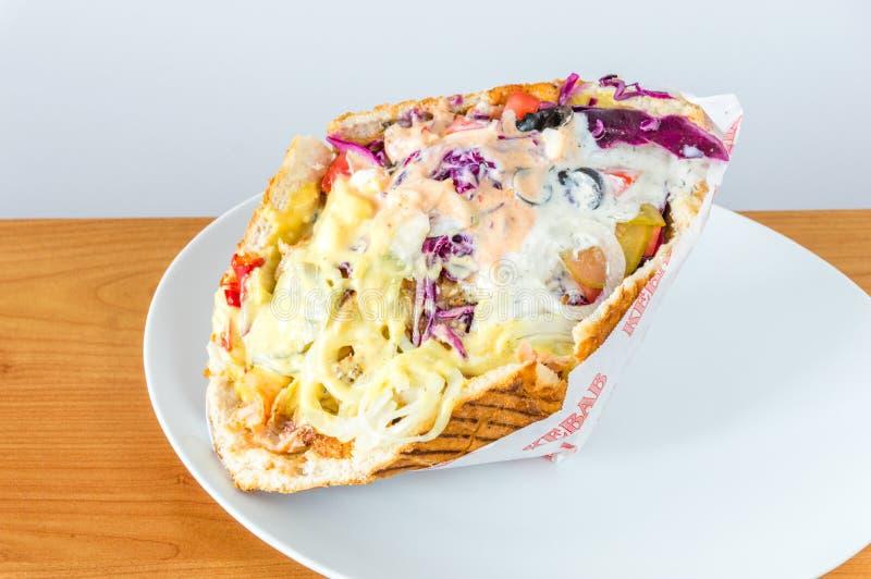 Typowy fasta food kebab w Polska zdjęcia stock