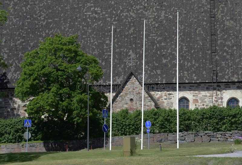 Typowy finnish kościół w lecie, śmiertelnie poważny fotografia zdjęcia royalty free