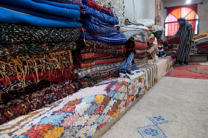 Typowy handmade arabski dywanowy pe?ny kolory zdjęcia royalty free