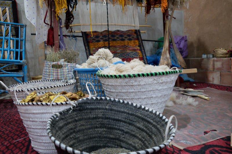 Typowy handmade arabski dywanowy pe?ny kolory obrazy royalty free